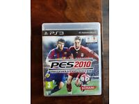 PS3 game - PES 2010