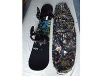 Burton Snowboard, bindings and bag
