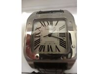 CARTIER Santos 100, Stainless Steel, Automatic, presented in cartier box