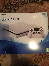 PS4 PlayStation 4 Slim White 500GB (New Sealed)