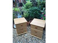Pair of Modern pine bedside cabinets