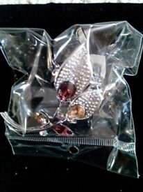 Ladies Scarf Ring - Calla Lilly