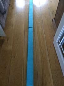 Child's balance beam , folds into two , approx 8ft out straight vgc
