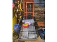 Rabbit indoor cage/hutch and run