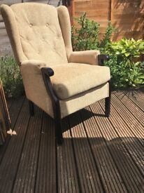 Rome Orthopedic High Back Chair Queen Anne Style Chair