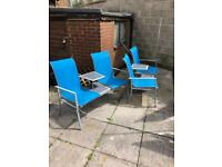 2 x Double seater garden chairs ( companion bench )