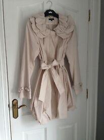 Savida Pretty Lined Pink Coat - size 12