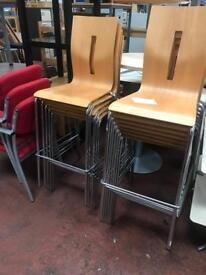 Stackable Bar High Back Stools