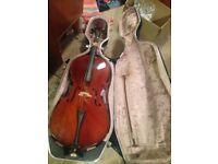Cello with hard case