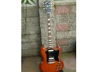 GIBSON SG STD.LTD EDITION 2006 WITH BURSTBUCKER PICKUPS and GIBSON HARD CASE £700 ono
