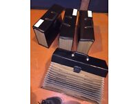 4x black box files with compartments
