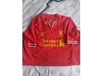 Mens Liverpool footbal shirt size XL