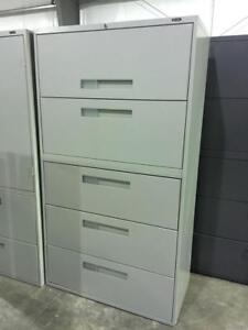Global 5 Drawer Lateral Filing Cabinets - $325