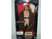 "STAR WARS EPISODE ONE 12"" FIGURE - QUI JON - BOX NEVER OPENED"