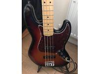American Fender Jazz Bass (Sunburst) – Serial No. US13095095 and Fender Rumble 350 Bass Amplifier