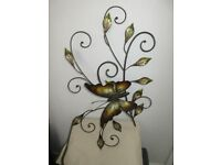 Butterfly Metal Wall Decor BRAND NEW