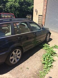 BMW 3 series diesel, very rare manual gear box, light damage.