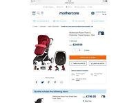 Mothercare Roam Pram Travel System