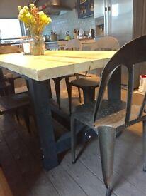 Metal stacking chairs set of 6