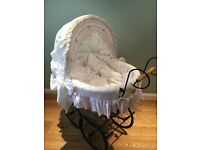 My Sweet Baby - Retro Wicker Crib/Moses Basket - white.