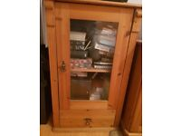 Lovely antique pine wood cabinet
