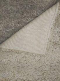 white rug mat, sheep effect