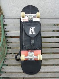 USED Hudson New York Full Size Skate Board and Carry Case