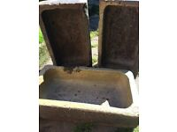 Stone cattle troughs