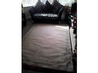 VERY LARGE CREAM RUG AS NEW
