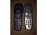 Two sky+HD remote controls