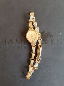 Ladies Everite 9ct gold watch,working,new battery,jeweller said it is worth around 300 pounds.