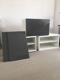 Entertainment centre/living room units and cupboards