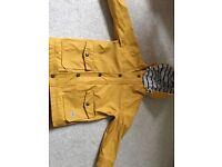 Yellow next rain coat