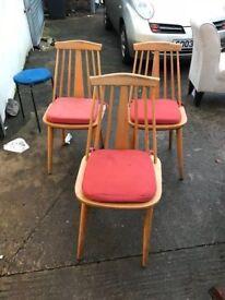 3 retro chairs