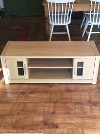 Modern light oak effect TV unit