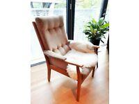 Mid century vintage armchair, Danish Scandinavian design style chair, London British made retro