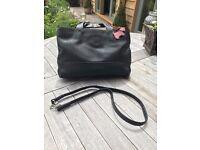 Radley handbag, black. Short handles and also long shoulder strap included.