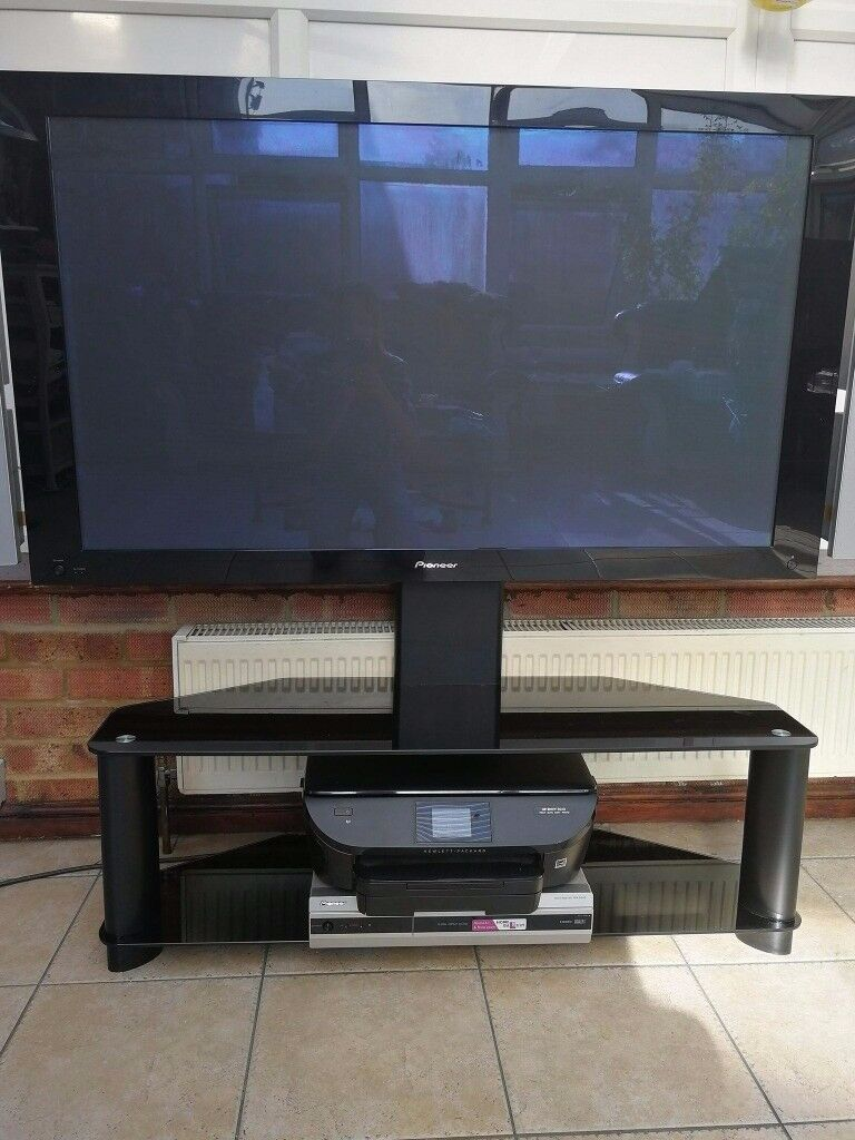 Pioneer Pdp 505pe 50 Inch Plasma Tv With Glass Stand And