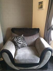 3 seater and cuddle chair
