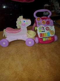 Fisher price horse and vtech walker