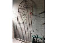 tall side entrance wrought iron security gate £20