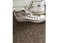 Converse high top boots size 6