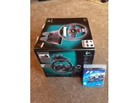 Logitech Driving Force GT Steering Wheel & F1 2012 game for PS3