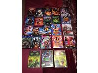 Marvel and dc DVDs huge collection