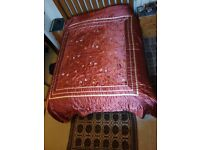 Satin bedspread - Very good condition. King size. 245 W x 265 L