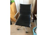 Adjustable office chair - chrome and black