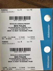 2x Ben Folds tickets Glasgow