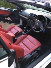 Volks wagon Golf Cabriolet, Red leather interior, One owner, Factory fitted led headlights.