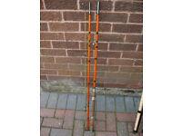 Vintage fishing rod. 10.5 foot, 3 piece, whole cane & fibreglass, coarse rod.