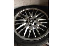 Bmw e46 MV1 staggered rear alloy wheel 1x